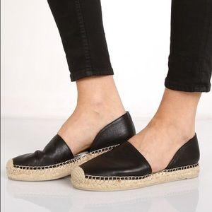 Dolce Vita 'Ciara' black leather espadrilles 6.5